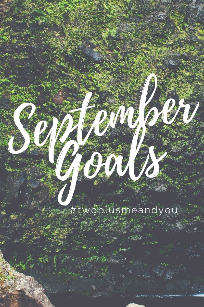 September Goals | twoplusmeandyou.com