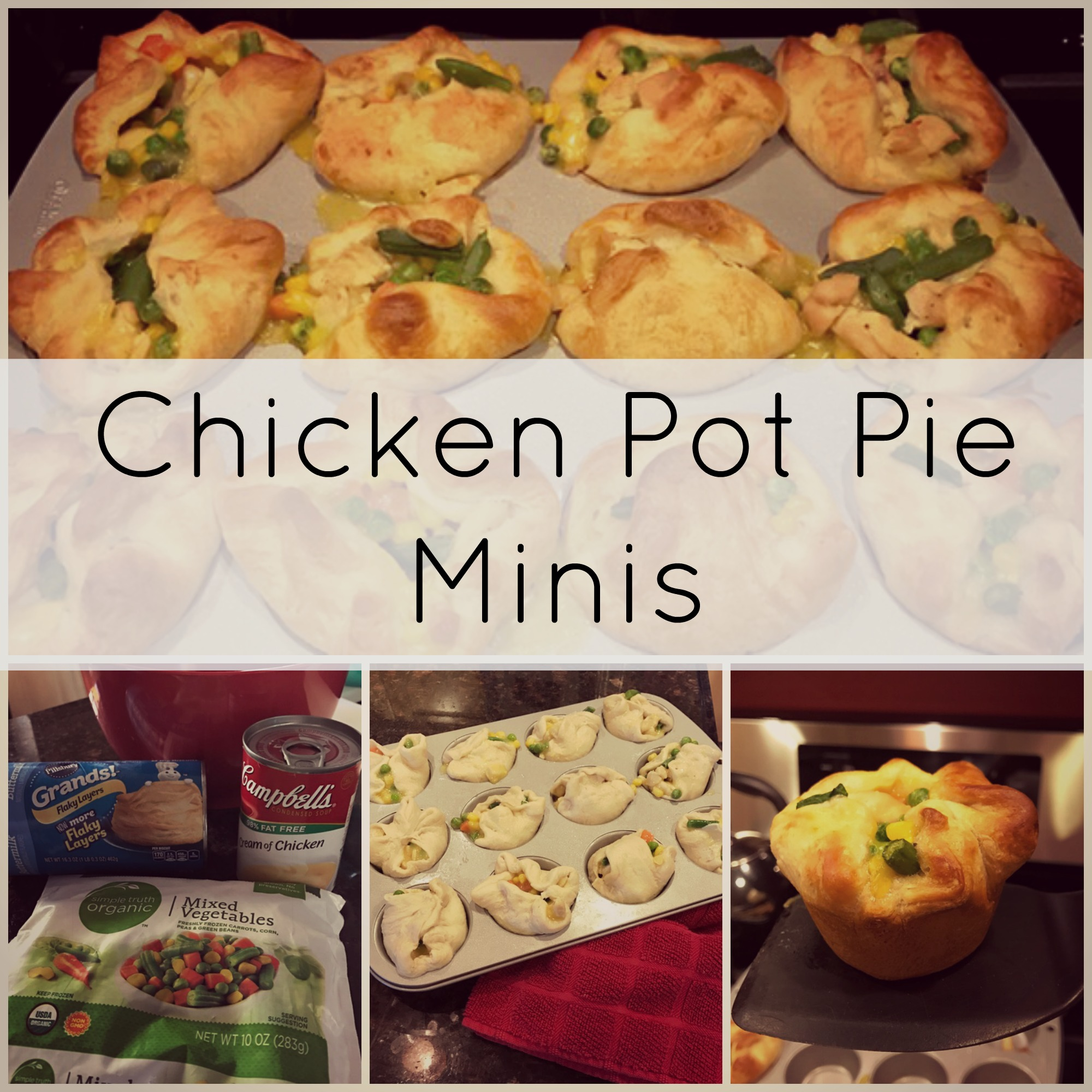 Pinterest for Dinner | Chicken Pot Pie Minis | twoplusmeandyou.com