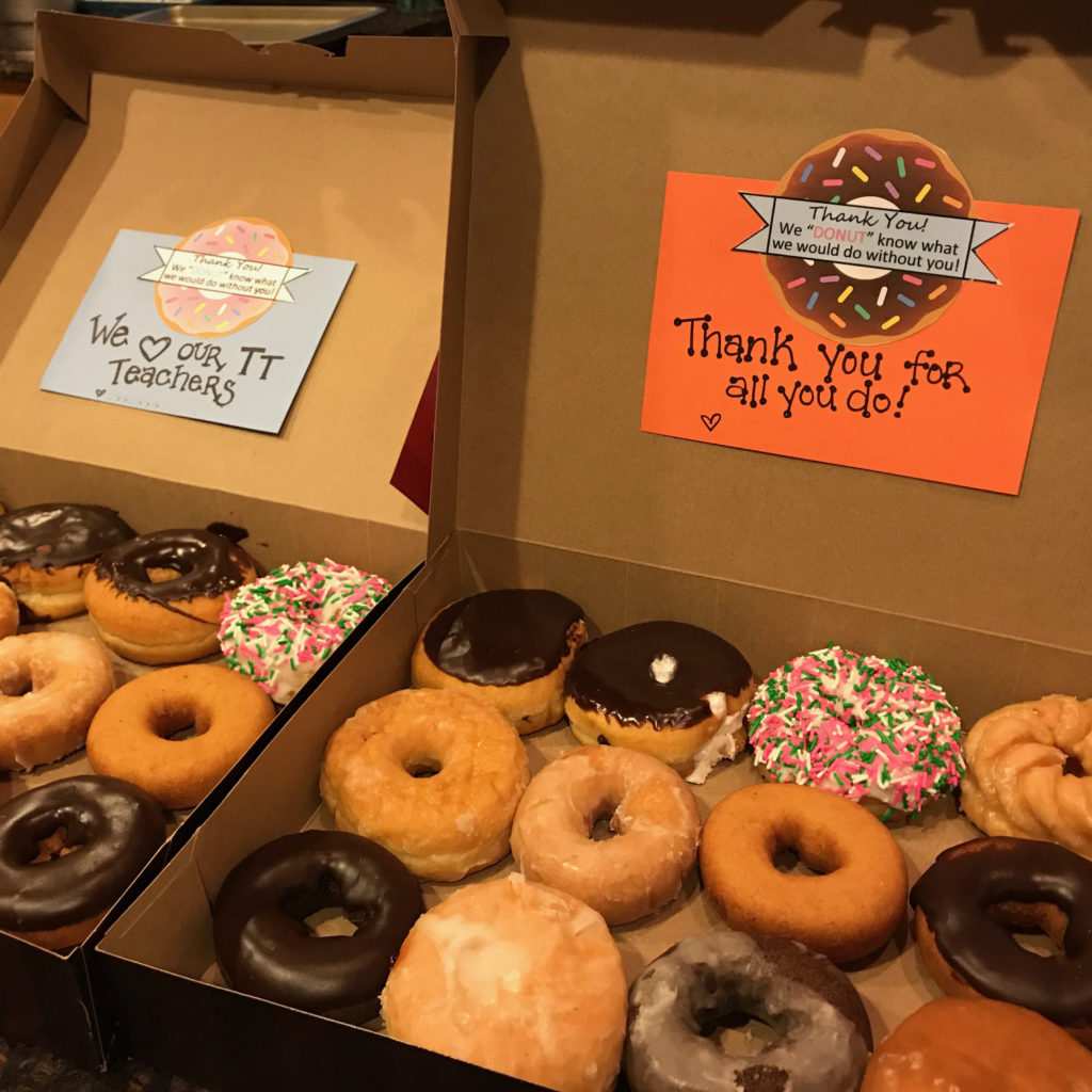 Teacher Appreciation Donut Tag | twoplusmeandyou.com