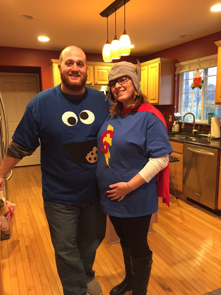 Cookie Monster and Grover Halloween | twoplusmeandyou.com