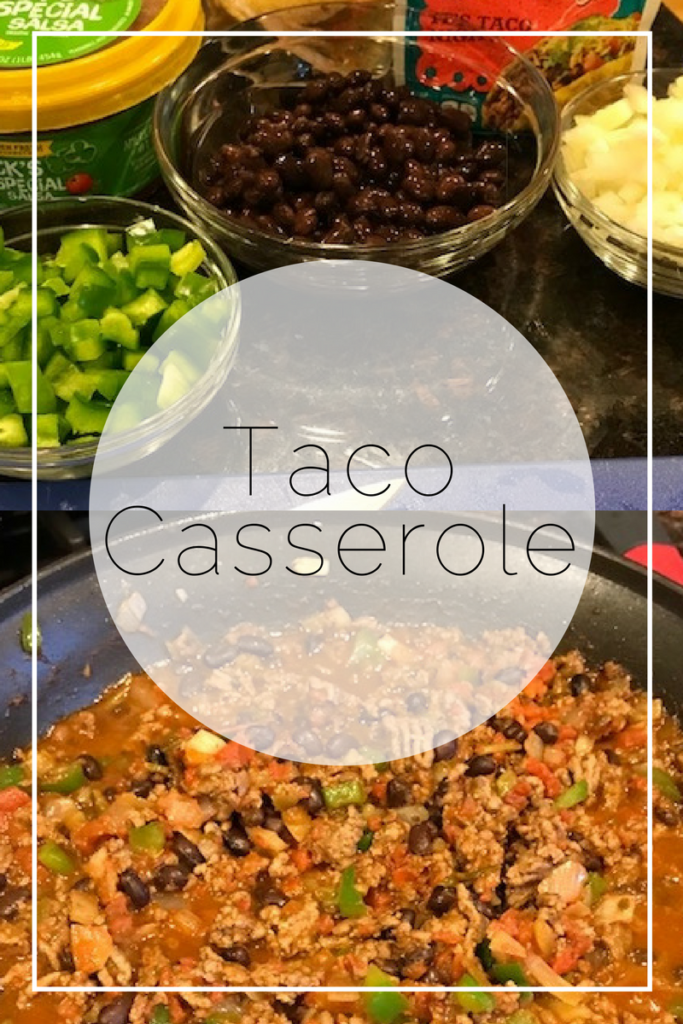 Pinterest for Dinner | Taco Casserole | twoplusmeandyou.com